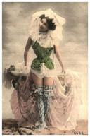 Femme Photo 953 Femme Chapeau Dentelle Cabaret - Donne