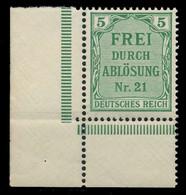 DEUTSCHES REICH DIENSTMARKEN 1903 05 Nr 3 Postfrisch EC X89C466 - Dienstzegels