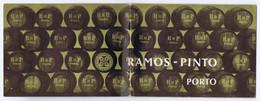C21b) Publicidade Catálogo Vinho Do Porto Caves RAMOS PINTO Ramos-Pinto  Portugal Mini Rótulos + 2 Postais No Interior - Alcools
