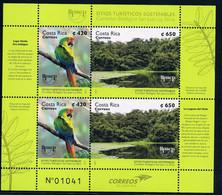 Costa Rica 2017 America UPAEP Issue - Tourist Destinations Stamp MS/Block MNH - Costa Rica