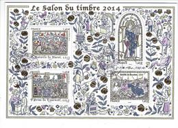 BF 135 Salon Du Timbre 2014 Les Grandes Heures De L'histoire De France Oblitéré 2014 - Used