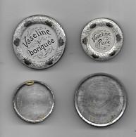 2 Boîte - Art Nouveau - Vaseline Pure & Boriquée - Années 1900 - Diam 5 Cm - - Boîtes