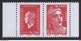 N° 4991 & 4992 Du Carnet N° 1522  Faciale 0,76 € X 2 - Unused Stamps