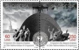 ALBANIE Shqipëria 3222/23 Immigration, Lady Liberty, Bateau - Refugees