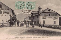 01 COL DE LA FAUCILLE   CPA   Hôtel Et  Col De La Faucille Et Le Mont Blanc - Altri Comuni