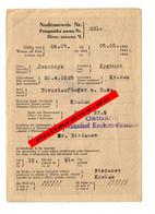 GG: Nachtausweis Für Dienstanfänger: Ostbahn Krakau-Plaszow, Biezanow 1944 - Historische Dokumente