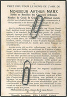 Arthur Marx : (Paliseul): Soldat Au Bataillon Des Chasseurs Ardennais -- Hergenrath 1947 - Andachtsbilder