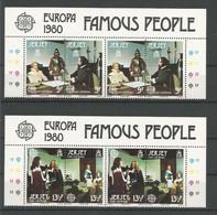 Jersey 1980 Europa Famous People Strip  Y.T. 213/216 ** - Jersey