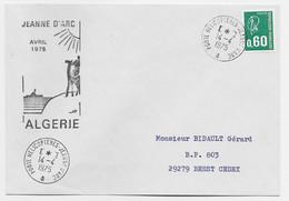 BEQQUET 60C LETTRE PORTE HELICOPTERES JEANNE D'ARC 4.4.1975 + JEANNE D'ARC AVRIL 1975 ALGERIE - Naval Post