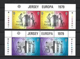 Jersey 1979 Europa Postal History Strip Y.T. 188/191 ** - Jersey