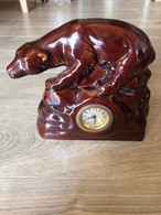 Orologio Con Statua Di Orso In Ceramica - Altri