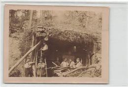 02 SAINT MARD #22101 PHOTO D UN ABRI DE VOITURE 1915 GUERRE MILITARIA - Other Municipalities