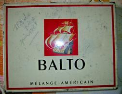 ANCIEN Boite Métal Cigare Américain BALTO + Différente Cigare Et Cigarette Tabac - Cigar Cases