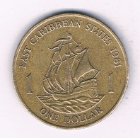 1 DOLLAR 1981?  EAST CARIBBEAN STATES /5253/ - West Indies