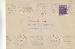 Allemagne - Zone Anglo Américaine - Lettre De 1948 - Oblit Hamburg - Exp Vers Hamburg - Cachet Spécial éléphants - Zona Anglo-Américan