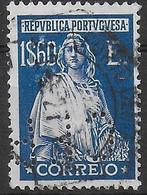 PORTOGALLO - 1926 - CERES - 1,69 E - PERFIN (C.F.P.) -USATO (YVERT 432 - MICHEL 424) - Used Stamps