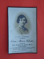 Anna Elslander Dochter Van Verkindt Geboren Te Outersteene 1916 Overleden  Te Wytschaete - Wijtschate 1937 (2scans) - Religion & Esotericism