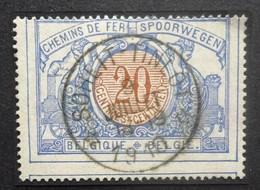 BELGIE  Spoorwegen  1902    TR 30     Rond / Ster Stempel  Soheit Tinlot      Gestempeld - 1895-1913
