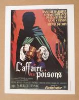 Affiche - Affichette - Poster L'Affaire Des Poisons Avec Danielle Darrieux, Viviane Romance De Henri Decoin - Posters