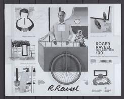 2021 ROGER RAVEEL  ZWART WIT VELLETJE 2021RAVZW - Black-and-white Panes