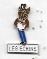 Pin's  Ville  LES  ECRINS  ( 05 ), Animal  CHAMOIS, Sport  Jeux  Olympiques  ALBERTVILLE  92 - Giochi Olimpici