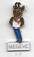 Pin's  Ville  MEGEVE  ( 74 ), Animal  CHAMOIS, Sport  Jeux  Olympiques  ALBERTVILLE  92 - Giochi Olimpici