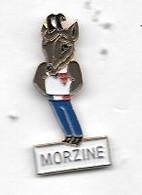 Pin's  Ville  MORZINE  ( 74 ), Animal  CHAMOIS, Sport  Jeux  Olympiques  ALBERTVILLE  92 - Giochi Olimpici
