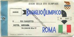 Baggage Strap Tag - Gepäckanhänger - Bagaglio Olimpico Roma - Olympia-Gepäck Rom 1960 - Unclassified