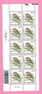 5489  -+-  BELGIQUE - 2005  N°  3391  Oiseaux De Buzin  Bloc De 10 Timbres  Neufs  (SIGNe BUZIN) - Collections