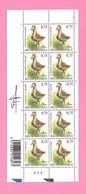 5490  -+-  BELGIQUE - 2004  N°  3269  Oiseaux De Buzin  Bloc De 10 Timbres  Neufs  (SIGNe BUZIN) - Collections