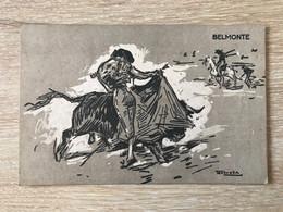 Carte Postale Perpignan Programme Corrida 1930 Belmonte - Perpignan
