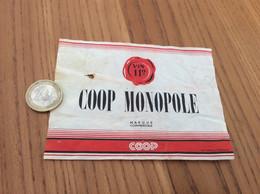 Ancienne Etiquette De Vin 11° «COOP MONOMOLE» - Vino Rosso