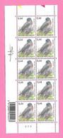 5498  -+-  BELGIQUE - 2005  N°  3390  Oiseaux De Buzin  Bloc De 10 Timbres  Neufs  (SIGNe BUZIN) - Collections
