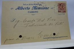 CASSINO   -- LATINA  ---  ALBERTO MENZIONE  -- MARMERIA - Latina