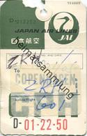 Baggage Strap Tag - Gepäckanhänger - Japan Air Lines Zürich - Unclassified