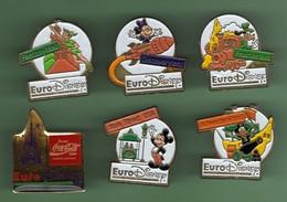 EURO DISNEY *** Lot De 6 Pin's Differents *** 5037-3 - Disney