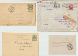 LOT  De  16  ENVELOPPES  - CARTES - ENTIERS POSTAUX De BELGIQUE - 1903- 1893-1899-1871-1880-1910-1885... - Letter-Cards