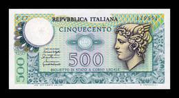 Italia Italy 500 Lire Mercury 1976 Pick 95 SC UNC - 500 Liras