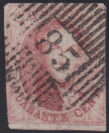 Belgie   .  OBP   .   12A  (2 Scans)    .  D85    .     O .    Gebruikt  . / .   Oblitéré - 1858-1862 Medallions (9/12)