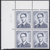 Belgie   .  OBP   .    1071a  Blok 4 Zegels       .     **   .     Postfris  . / .   Neuf SANS Charniére - Unused Stamps