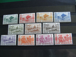 NOUVELLES HEBRIDES POSTE ORDINAIRE N° 155/165 TIMBRES NEUFS** LUXE COTE 73,00 EUROS - Unused Stamps
