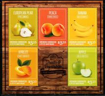 CR0551 Grenada Island 2016 Various Fruits, Peaches, Etc. S/S - Obst & Früchte