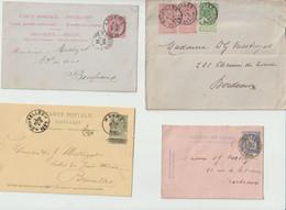 LOT  De  16  ENVELOPPES  - CARTES - ENTIERS POSTAUX De BELGIQUE - 1895-1901-1899-1893-1877-1889-1898.... - Letter-Cards