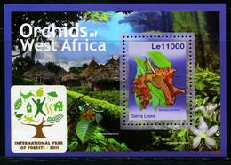 CR0555 Sierra Leone 2011 Protection Of Endangered Plant Orchid M - Sonstige