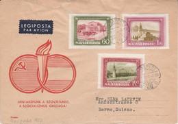 HONGRIE LETTRE FDC POUR LA SUISSE 1952 - Covers & Documents