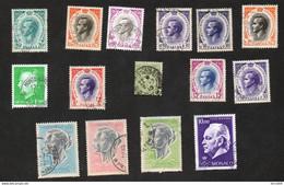 Monaco Lot 30 Timbres Oblitérés Et 15 Neufs Cf Scan Pour Détail Svp - Collections, Lots & Series