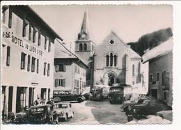 Carte ( Format 15 X 10,5 Cm ) LES GETS  Hôtel Du Lion D'or  ( Voiture Autobus Auto Car ) ( Recto Verso ) - Les Gets