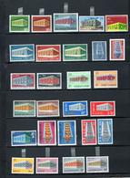 ZIBELINE EUROPA CEPT 1969 CHARNIERES   AVEC CHYPRE IRLANDE EIRE PORTUGAL ANDORRE - Sammlungen
