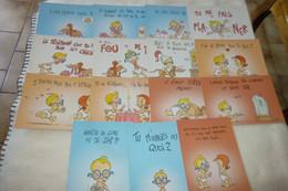"""LOT DE 15 ILLUSTRATIONS HUMORISTIQUES...""""LES ENFANTS DE LA TELE"""" ..signe Abouin?? - 5 - 99 Postcards"""