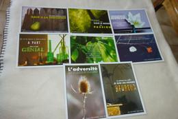 """LOT DE 8 CARTES COLLECTION """"MOTS D'ESPRIT""""... - 5 - 99 Postcards"""